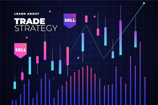 Forex trading sfondo con grafico Vettore gratuito