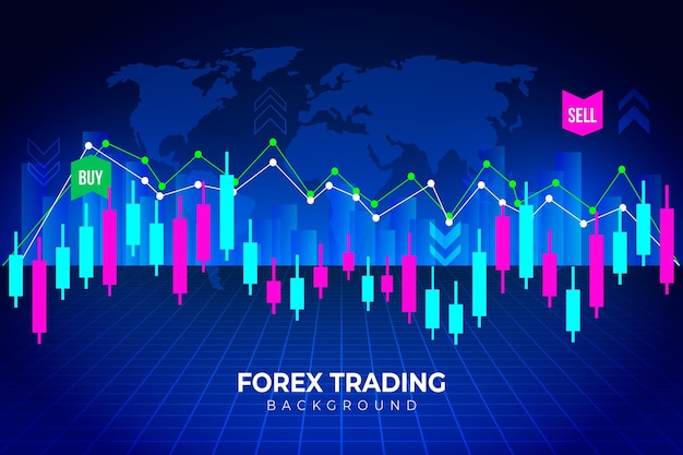 Forex trading background Premium Vector
