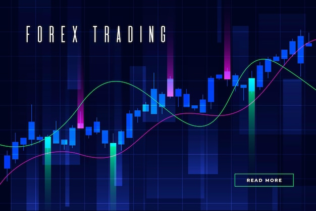 Forex trading background Premium Vector