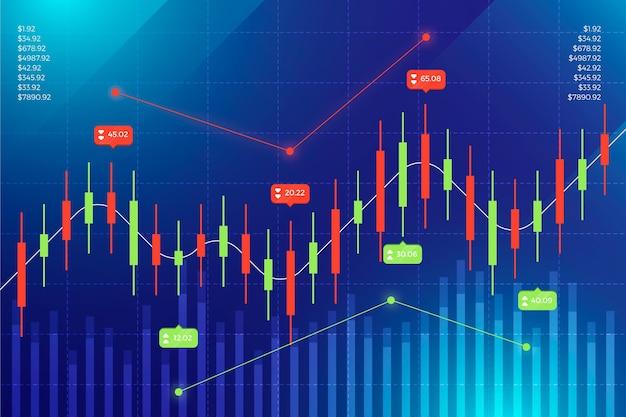 Forex trading sullo sfondo Vettore gratuito