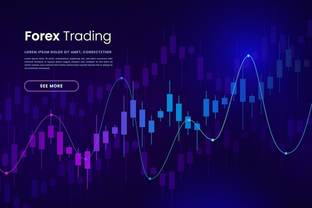 Forex trading background Free Vector