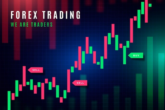 Forex trading wallpaper Free Vector
