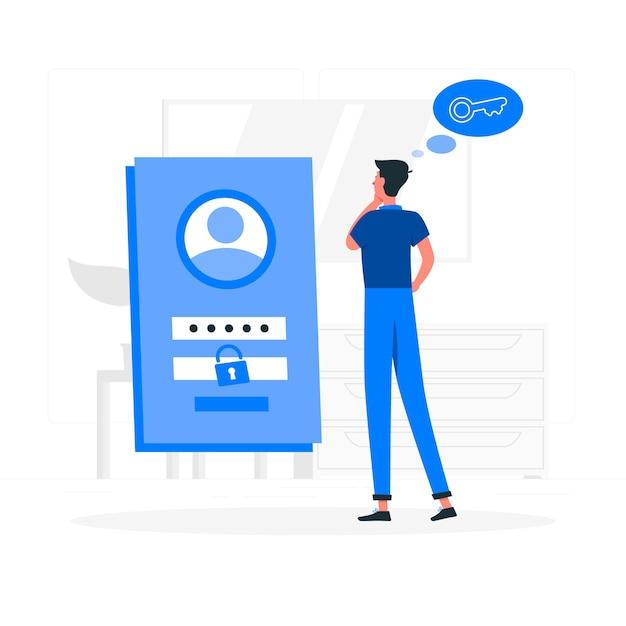 Forgot password concept illustration Free Vector