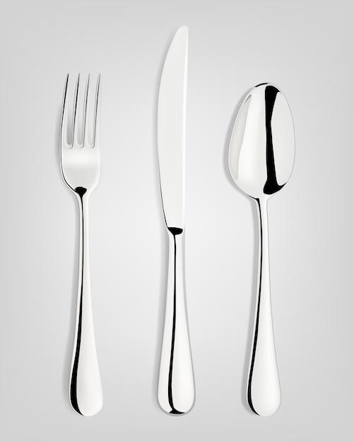 フォーク、スプーン、ナイフ。 Premiumベクター