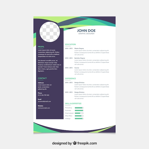 Formal curriculum template with geometric style