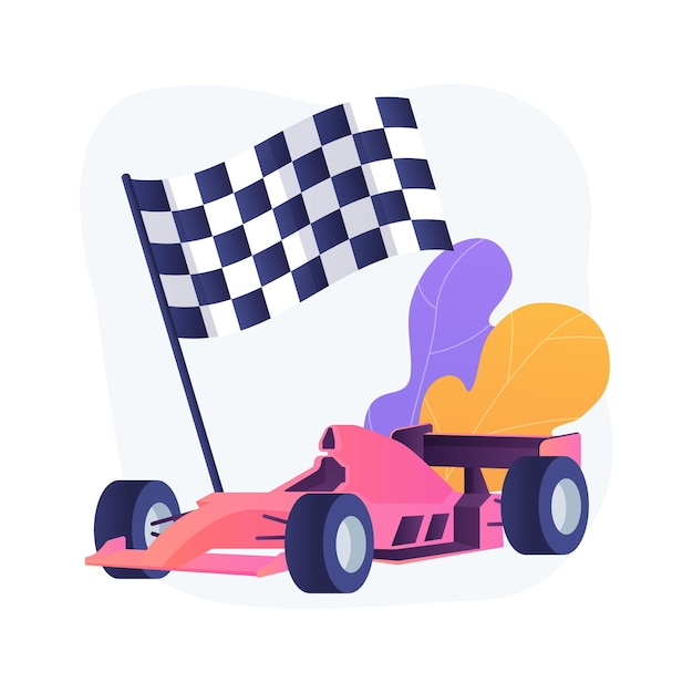 Formula 1 abstract concept vector illustration. extreme driving, automobile sport, motorsport championship, watch formula 1, professional racer, high speed, racing grand prix abstract metaphor. Free Vector