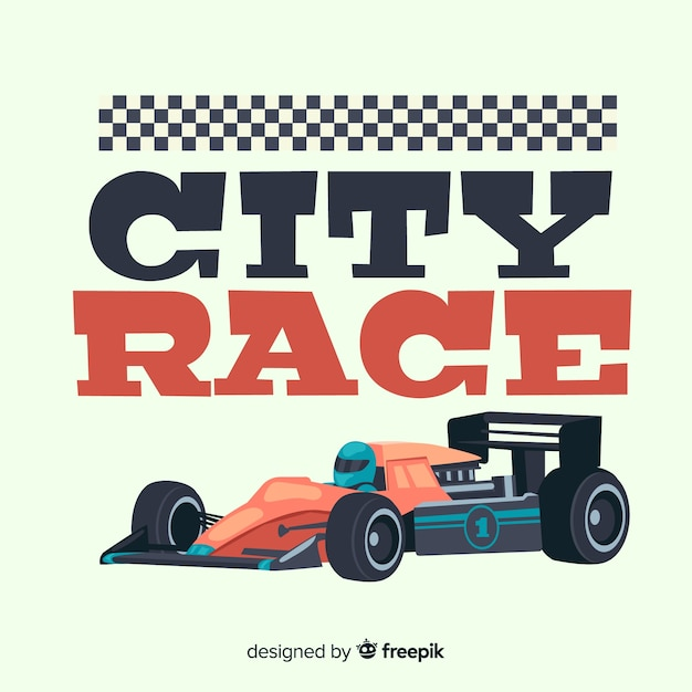 Formula 1 city race background