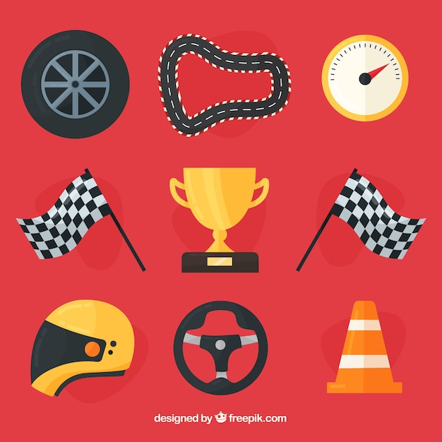 Formula 1 element collection Free Vector