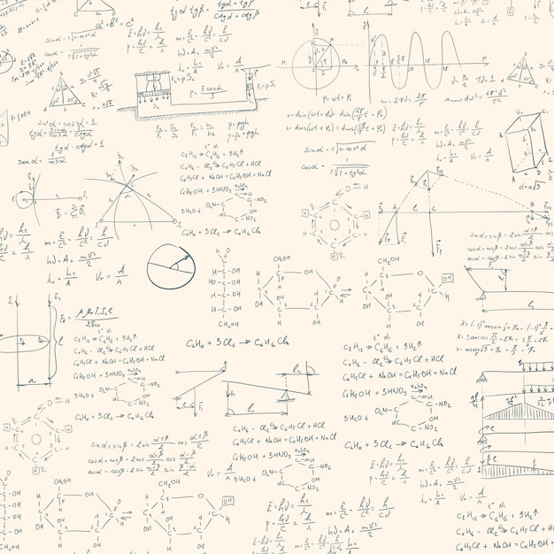 Formula in blackboard Premium Vector