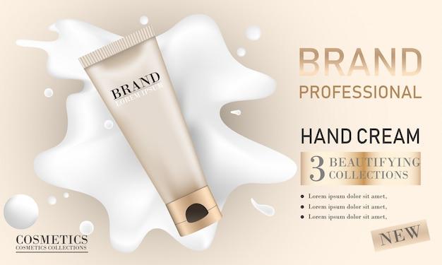 Foundation makeup ads Premium Vector