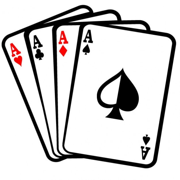 four aces poker cards clip art vector free download rh freepik com vector playing cards free download vector playing cards free for illustrator