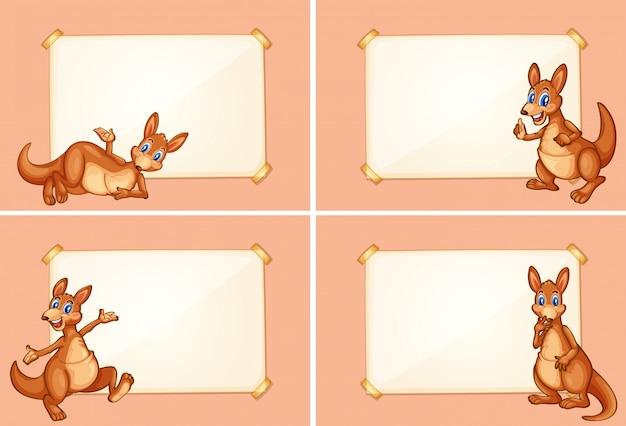 Four border templates with cute kangaroo vector free download four border templates with cute kangaroo free vector maxwellsz
