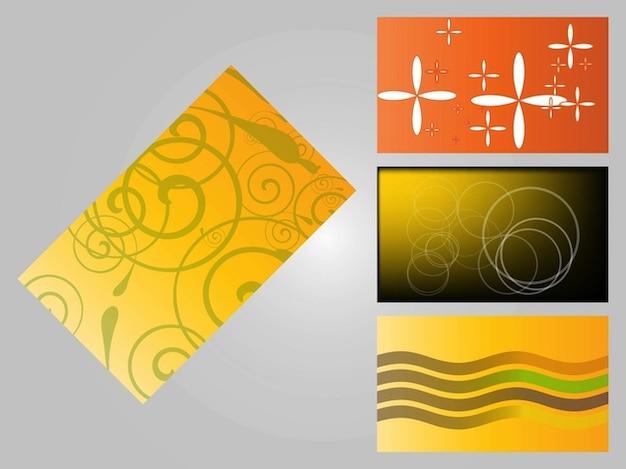Four business card templates