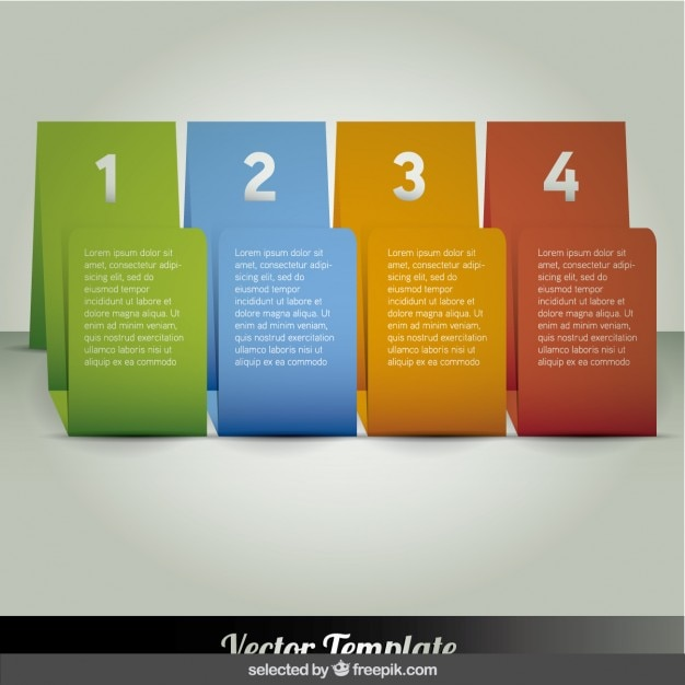 Four colorful banners infographic Free Vector