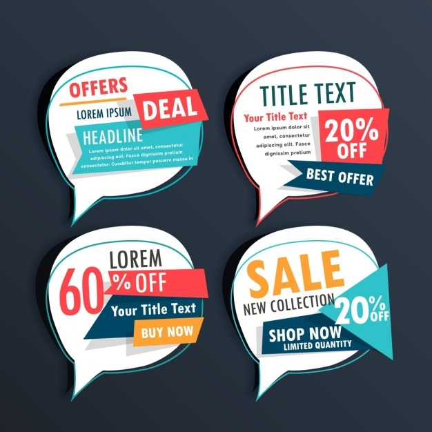 Four discount vouchers on a dark background Vector – Free Discount Vouchers