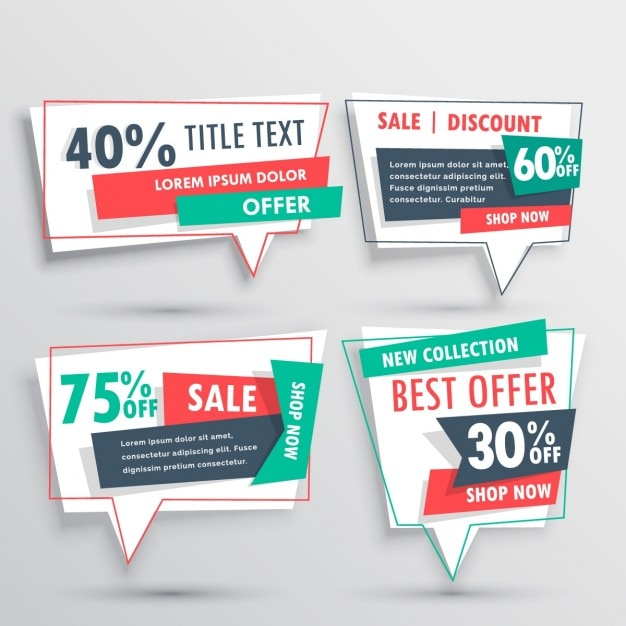 Four discount vouchers on a gray background Vector – Free Discount Vouchers
