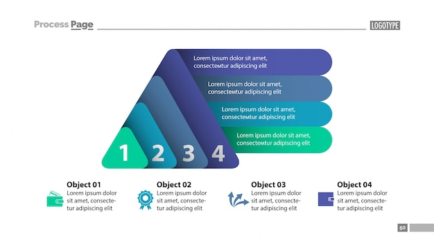 four elements plan slide template vector free download