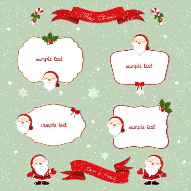 Four frames christmas Free Vector