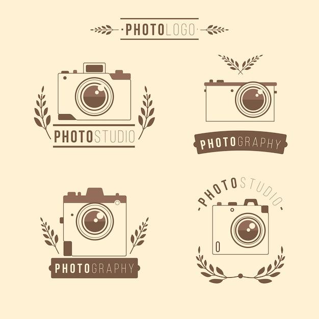Four Hand Drawn Camera Logos Vector Free Download