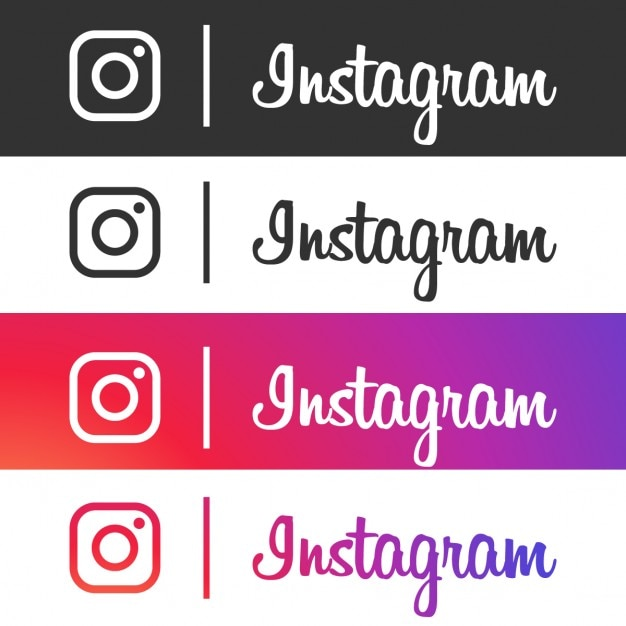 Four instagram icons Free Vector