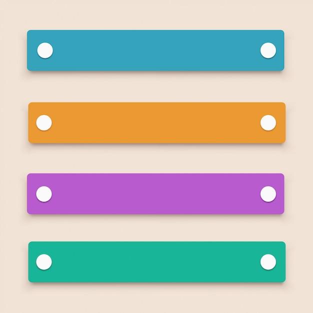 4 개의 레이블 설정 프리미엄 벡터