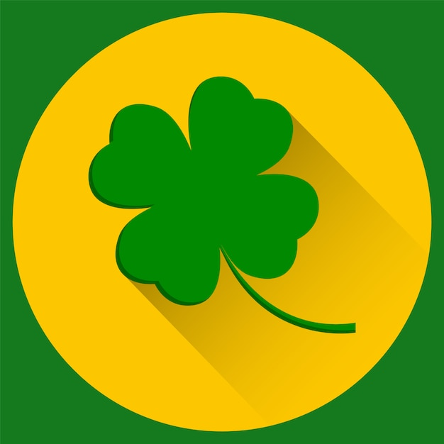 Four leaf clover, st. patrick's day Premium Vector
