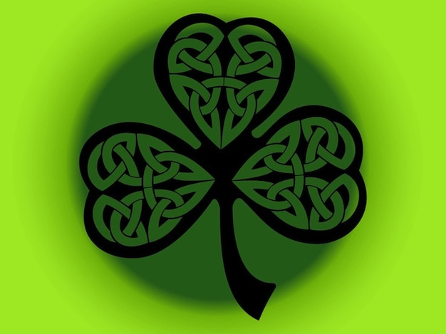 Four Leaf Clover Symbol Decorations Vector Free Download