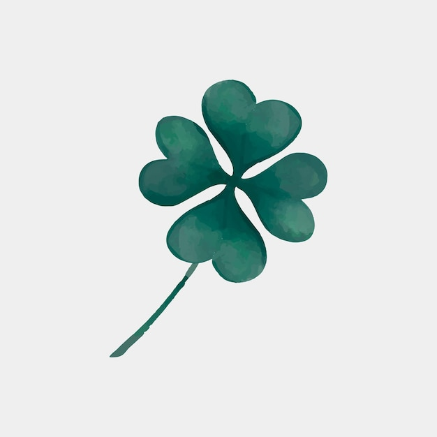 Four leaves clover in hand drawn style Free Vector