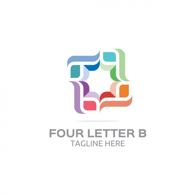 Four letter b logo Free Vector