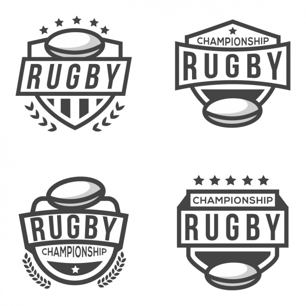 Four logos for rugby Free Vector