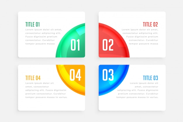 Four steps elegant infographic template Free Vector