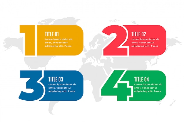 Four steps infographics template design Free Vector