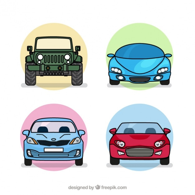 four types of cars pack free vector