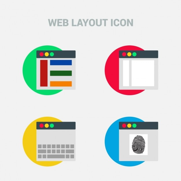 Four Web Template Icons Vector Free Download