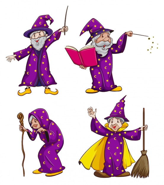 Four witches Free Vector