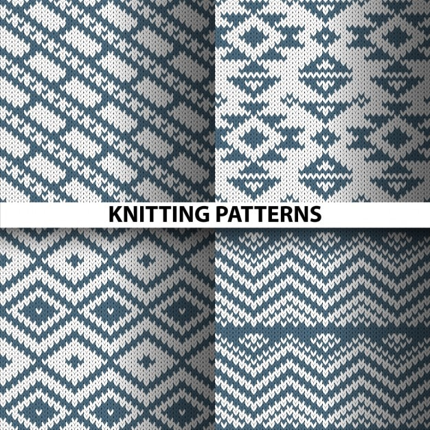 Four woven patterns Free Vector