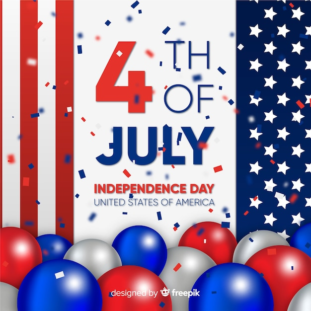 Fourth of july background Free Vector