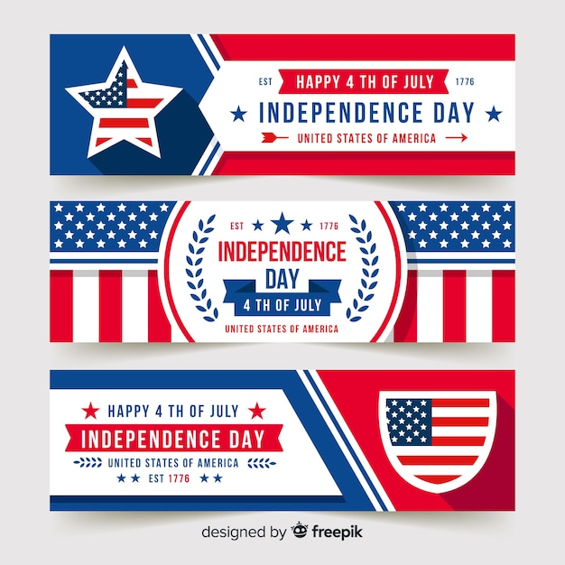 Fourth of july banners Vector | Free Download