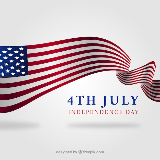 Fourth of july composition with flat design Free Vector