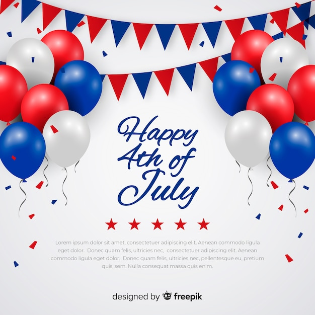 Fourth of july festive background Free Vector