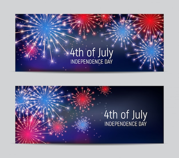 Fourth of july, independence day of the united states. Premium Vector