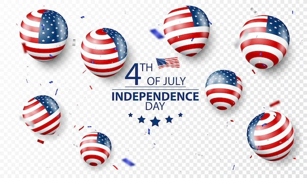 Fourth of july independence day of usa celebration Premium Vector