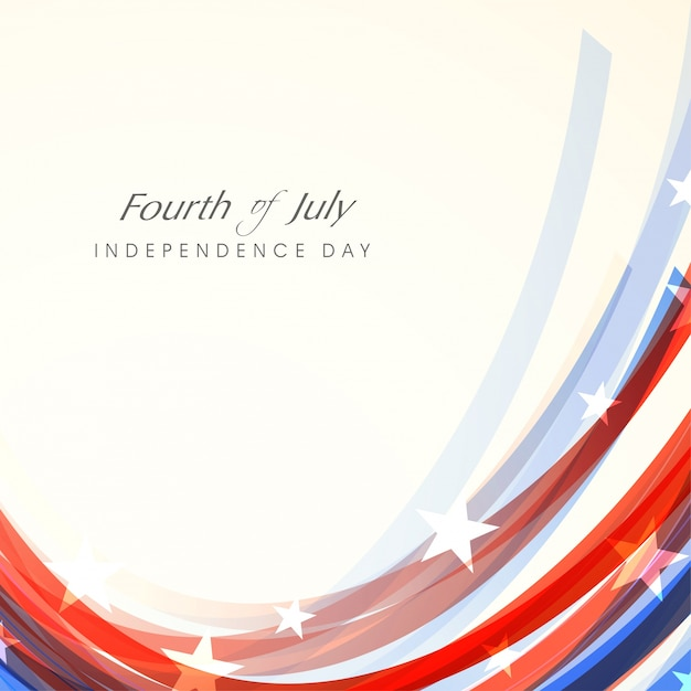 Fourth Of July Shiny Background Vector Free Download