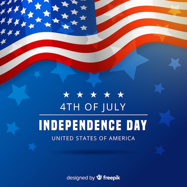 Fourth of july Free Vector