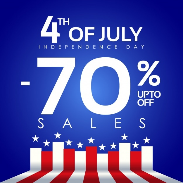 Fourth of july 70% discount