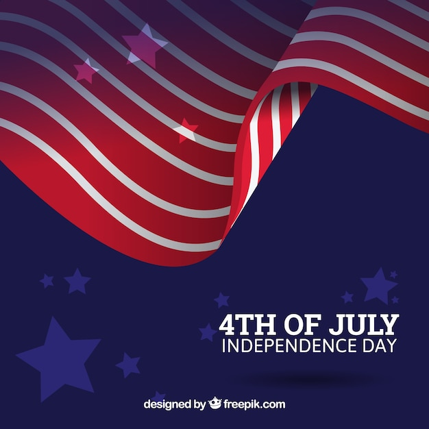 Fourth of july background with abstract\ american flag