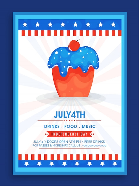 Fourth of july poster design