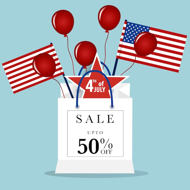 Fourth of july sale background