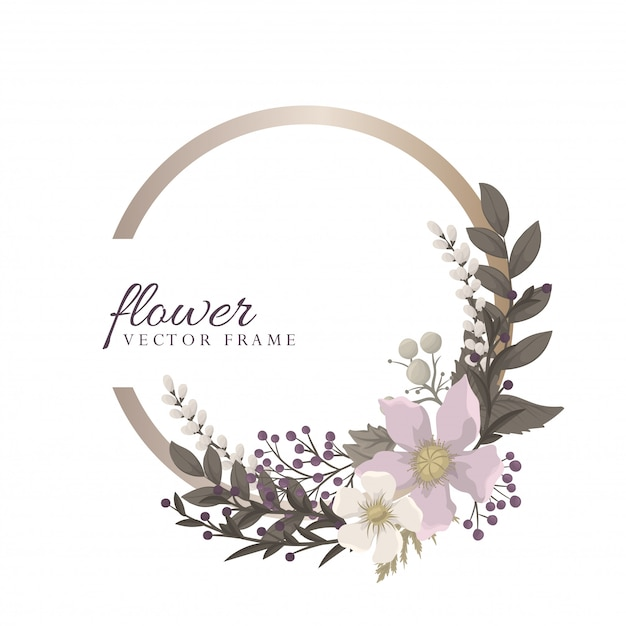 Fower page boarders - red flower Premium Vector