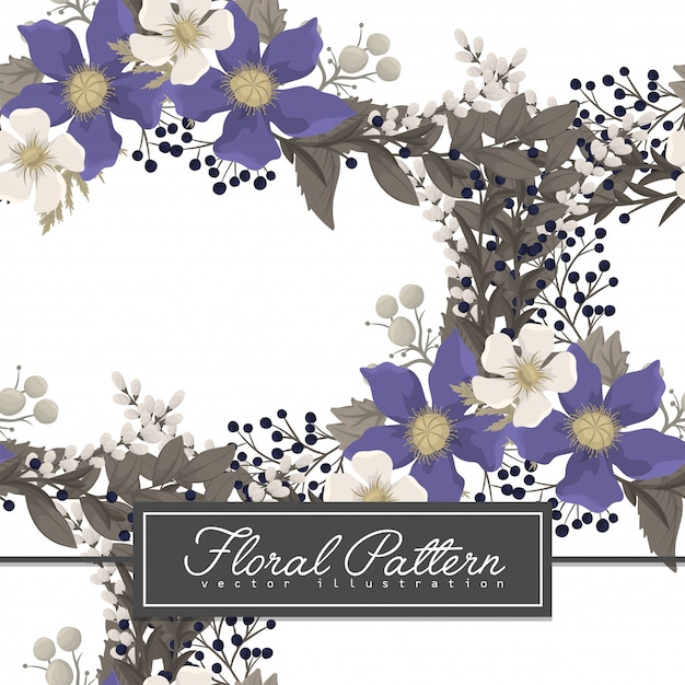 Fower page boarders - red flower Free Vector